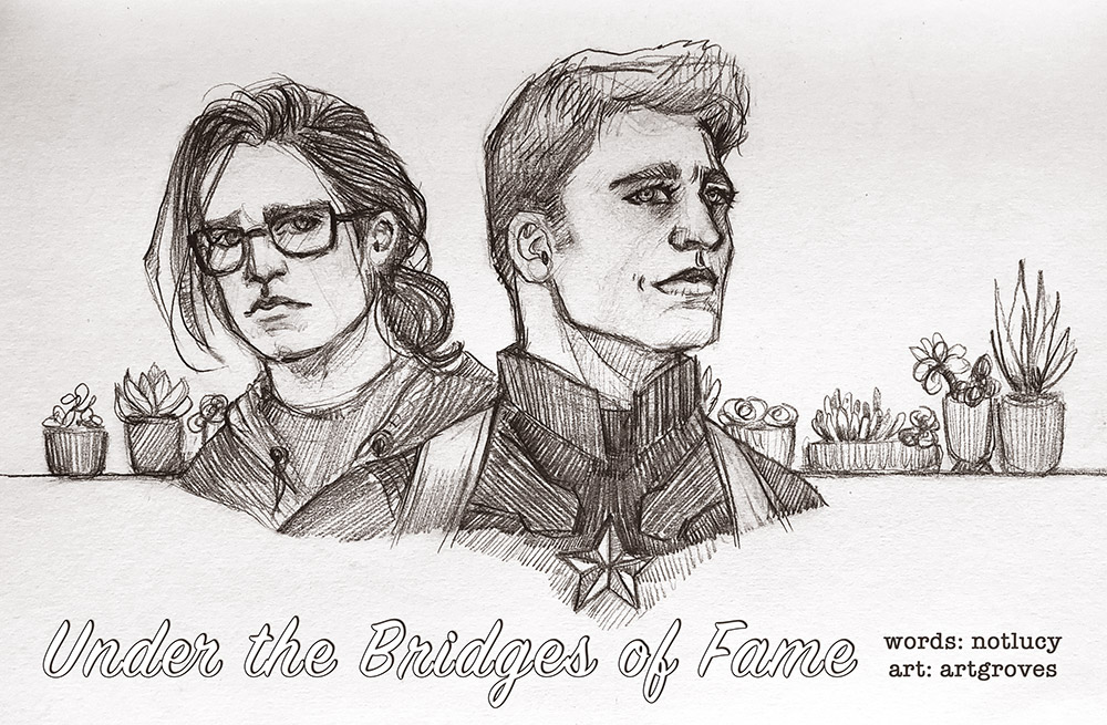 Story banner with Steve and Bucky as well as the title